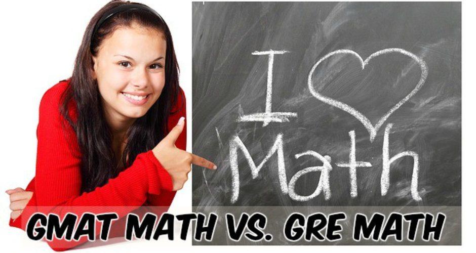Compare GMAT GRE math