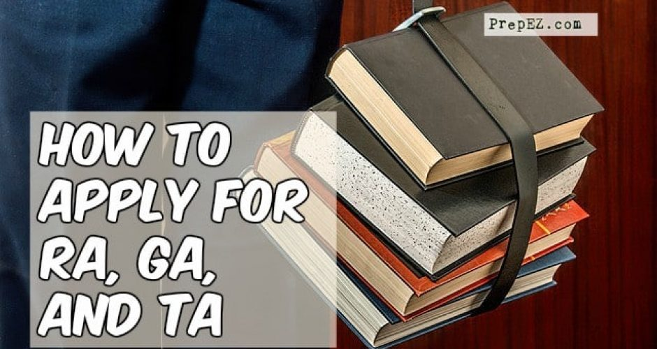steps to apply for RA, GA, and TA