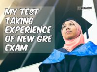 GRE test taking experience