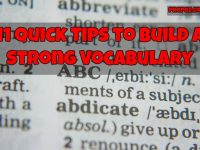 tips for vocabulary
