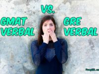 compare GMAT GRE Verbal