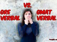 compare GRE GMAT Verbal
