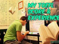 My TOEFL Score