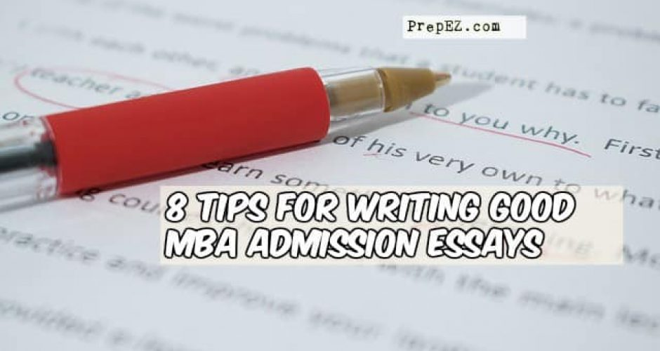 Suggestions for writing admission essays
