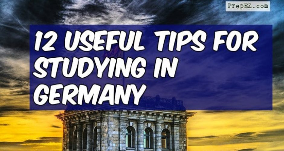tips studying in Germany
