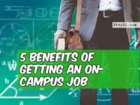on-campus job benefits