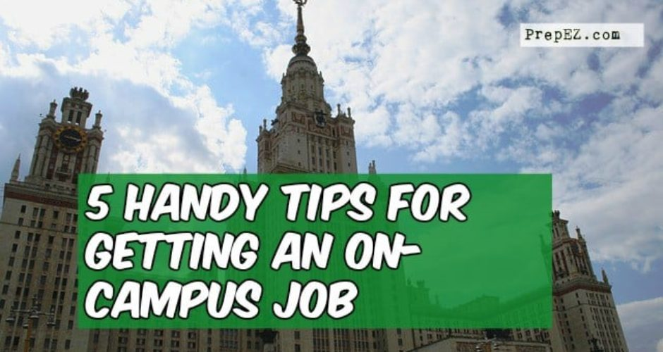 tips for on-campus jobs
